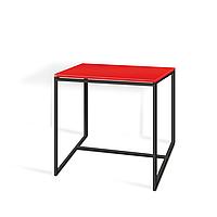 Commus стіл журнальний Куб 400 червоний/чорний