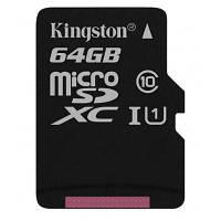 Карта памяти Kingston 64GB microSDXC class 10 UHS-I Canvas Select (SDCS/64GBSP)