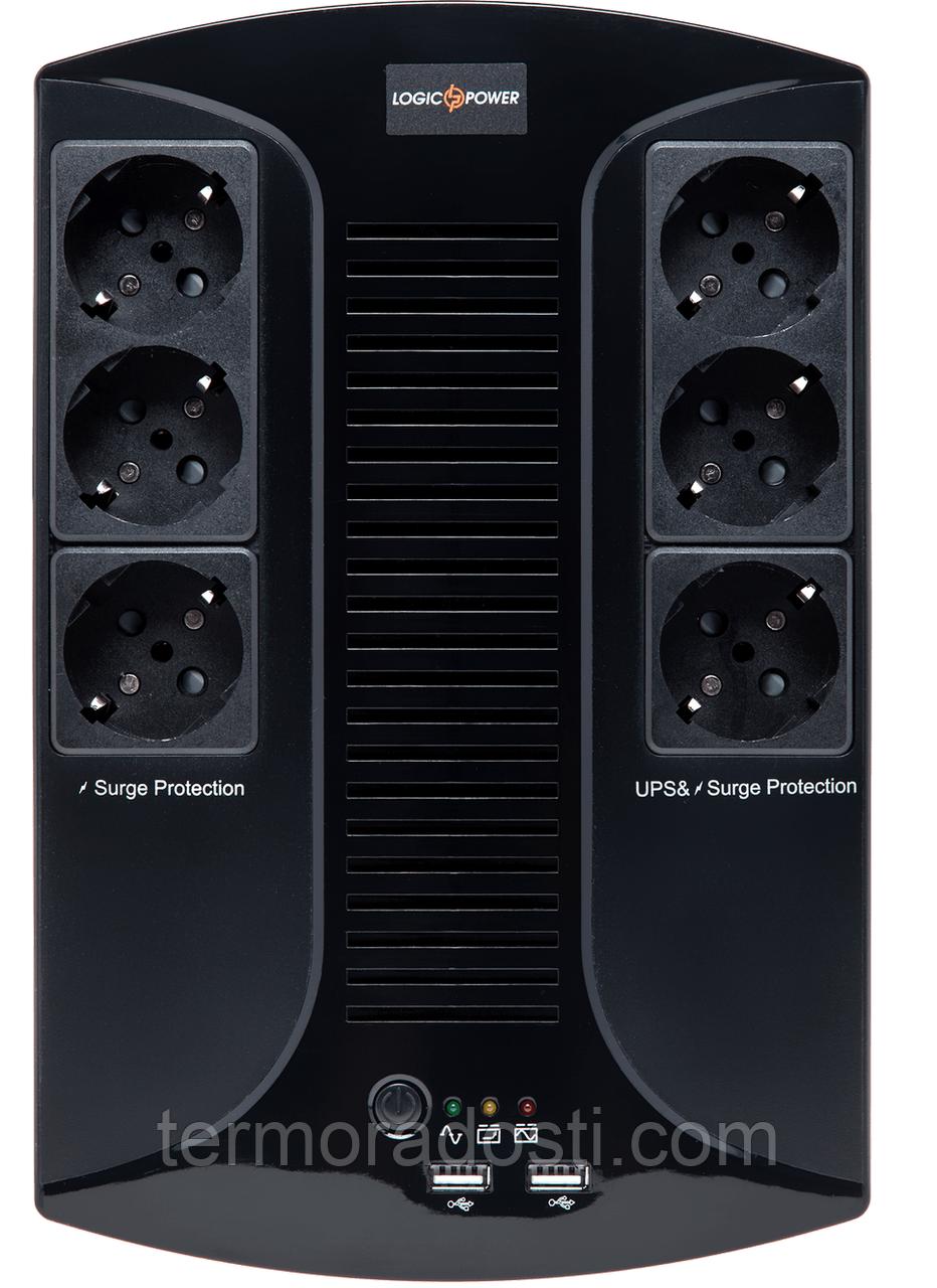 ИБП линейно-интерактивный LogicPower 650VA-6PS