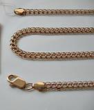 Золотая ЦЕПЬ универсальное плетение ШАРЛОТТА 13.75 г. 45 см, фото 8