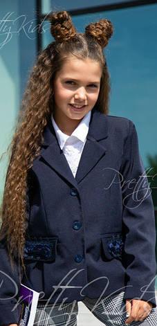 Детский школьный пиджак для девочки,  146-152р., фото 2