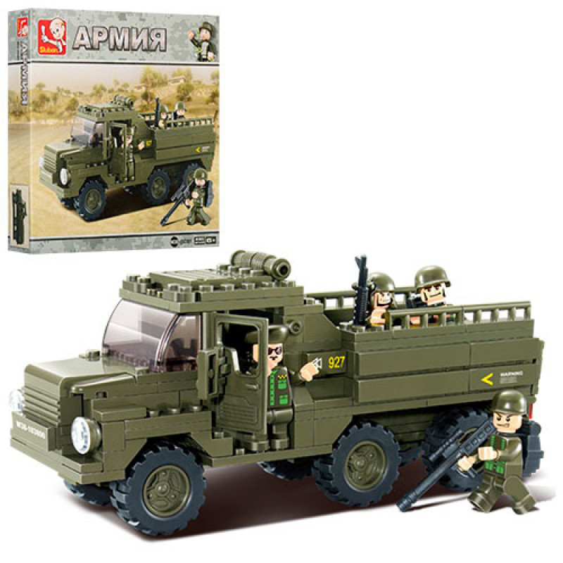 Конструктор SLUBAN армия, военная машина, 230дет, M38-B0301