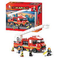Конструктор SLUBAN пожарные спасатели, 267дет, M38-B0221
