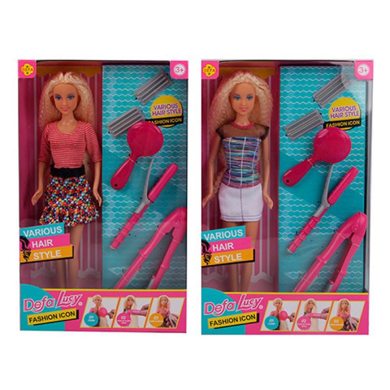 Кукла DEFA 30см, набор парикмахера, 8381-BF