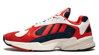 Мужские кроссовки Adidas Yung 1 White Blue Red (адидас янг, красные/синие)