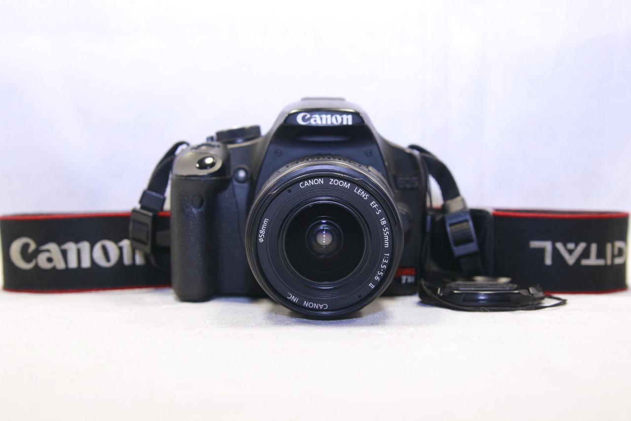 Б/у зеркальный фотоаппарат Canon Rebel T1i (500d) efs 18-55