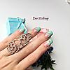 """Кольцо """"Анастасия""""  на весь палец, 16 размер."""