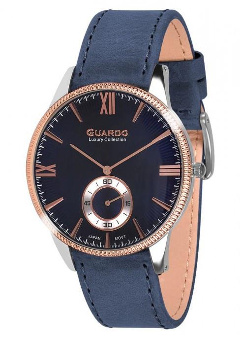 Чоловічі наручні годинники Guardo S01863 RgsBlBl