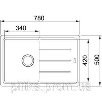 Кухонная мойка Franke Basis BFG 611-78 (114.0258.038) графит, фото 2