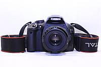Зеркалка Canon 550d ef 50mm 1:1.8 II, фото 1