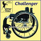 Активная инвалидная коляска для взрослых GTM Mobil Challenger Active Wheelchair, фото 3