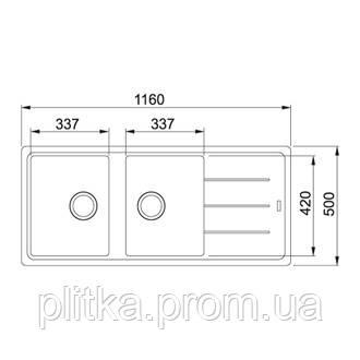 Кухонная мойка Franke Basis BFG 621 (114.0367.616) белый, фото 2