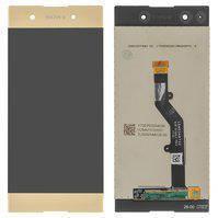 Дисплей (экран) для Sony G3412 Xperia XA1 Plus Dual с сенсором (тачскрином) золотистый, фото 2