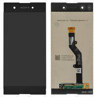 Дисплей (экран) для Sony G3412 Xperia XA1 Plus Dual с сенсором (тачскрином) черный Оригинал, фото 2