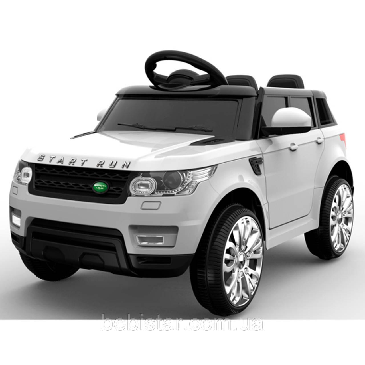 Детский электромобиль белый FL1638 (T-7815) WHITE деткам 3-8 лет