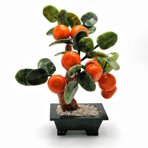 Дерево мандарин (8 плодов)(23х23х15 см)