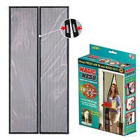 Сетка штора магнитная антимоскитная на дверь Magic Mesh (Меджик Меш).