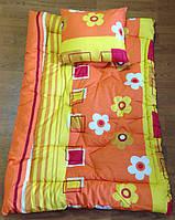 Одеяло детское с подушкой из овечьей шерсти