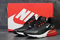 Кроссовки мужские Nike Air Max 270 повседневные, модные (черно-красные) ТОП-реплика, фото 1