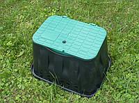 Малый смотровой полиэтиленовый колодец с откидным люком, 305х385х275мм, фото 1