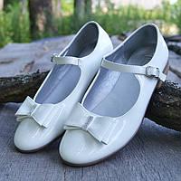 Белые туфельки на девочку Friboo р 36, обувь для школы, школьные туфли, балетки