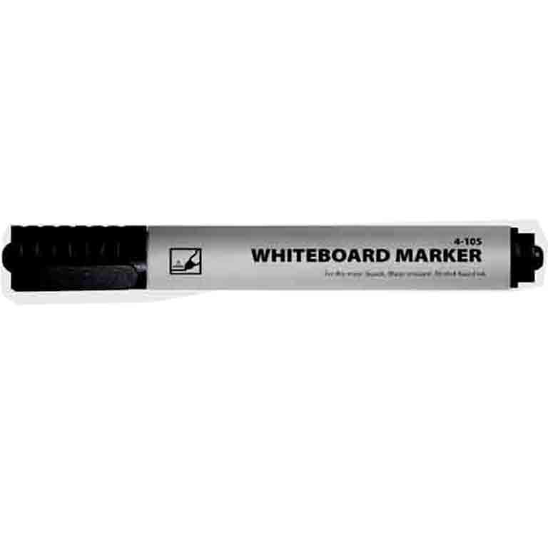 Маркер для досоки 4Office 4-105 черный 1-2мм, круглый