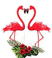 Салфетки бумажные праздничные Фламинго  (20 штук)