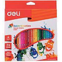 """Карандаши цветные Deli С002 30 36 цветов трехугольный дерев корпус, карт/кор """"Color Emotion"""""""