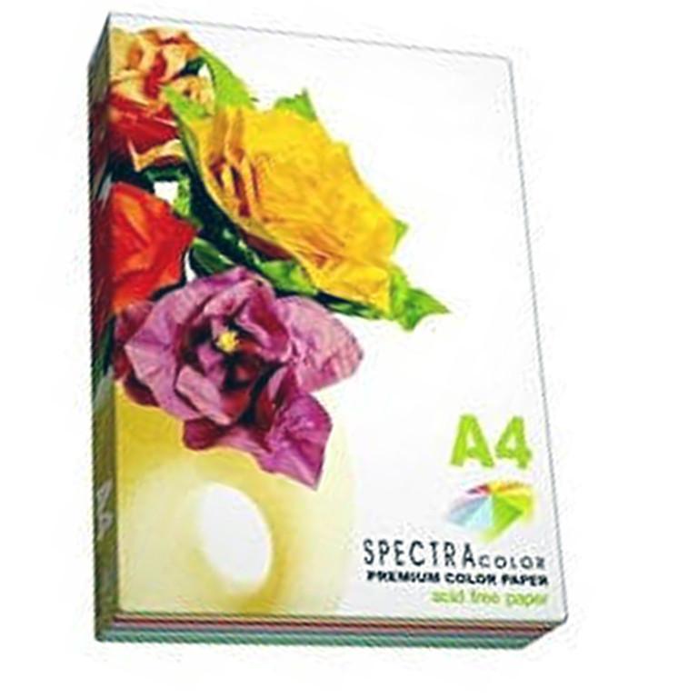 Бумага флуоресцентных тонов Spectra_Color IT82 микс А4 75гр 5кол*20ар неон Cyber