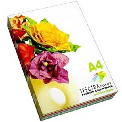 Бумага флуоресцентных тонов Spectra_Color IT82 микс А4 155гр 5кол*20ар неон Cyber, фото 2