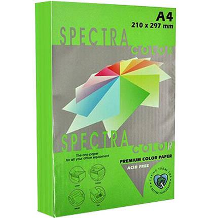 """Бумага флуоресцентных тонов Spectra_Color 321 зеленый А4 155гр 250л """"Spectra_Color"""" неон                                                              , фото 2"""