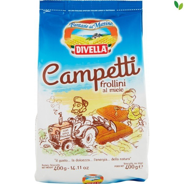 Печенье Divella Campetti Al Miele с медом, 400 гр.