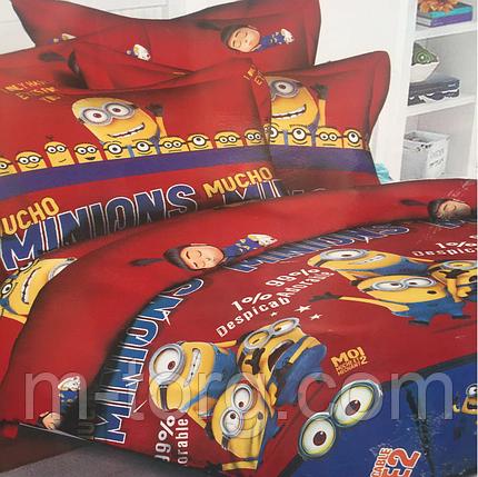 Полуторный комплект постельного белья 150/220 с детским рисунком,одна нав-ка 70/70,ткань поплин 100% хлопок   , фото 2