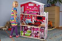 Кукольный домик Malibu+кукла в подарок,Дом для кукол+лифт+мебель!