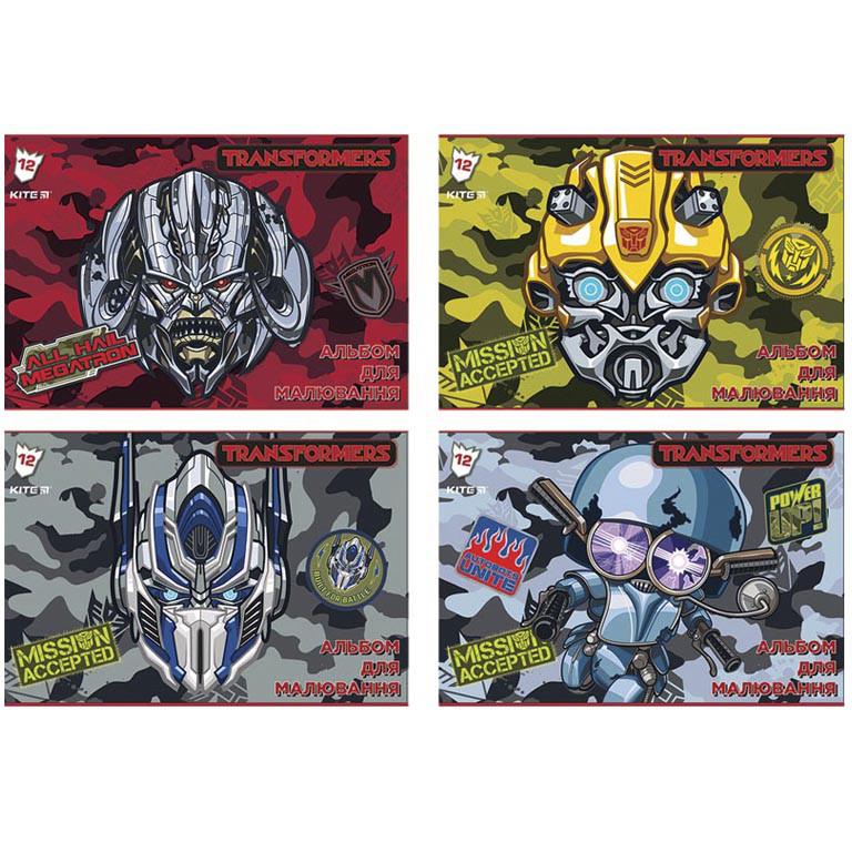Альбом для рисования Kite TF18-241 12л А4 скоба 120г/м2 Transformers  УФ-лак