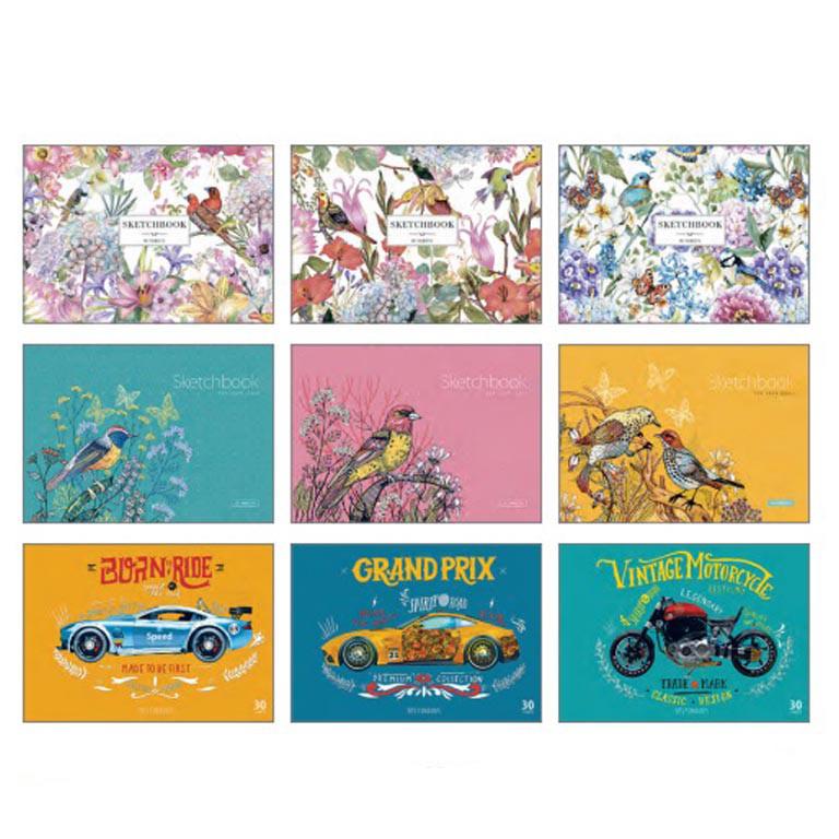 Альбом для малювання Star PB-GB-030-129 30ар А4 склейка з перфорацією карт/обкл