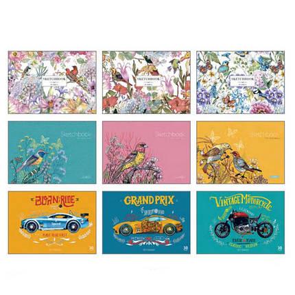Альбом для малювання Star PB-GB-030-129 30ар А4 склейка з перфорацією карт/обкл, фото 2