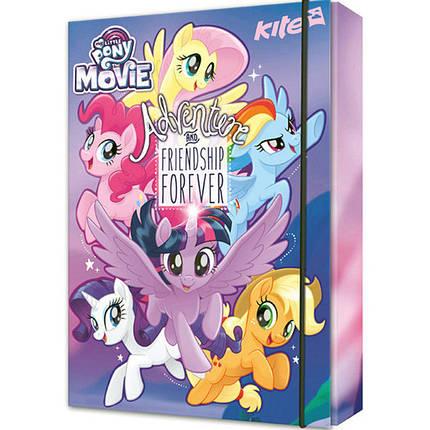 """Папка для тетрадей Kite LP17-210 B5 картон на резинке """"My Little Pony""""                                                                                , фото 2"""