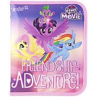 """Папка для тетрадей Kite LP17-203-02 B5 на змейке обьемная  """"My little Pony movie"""""""