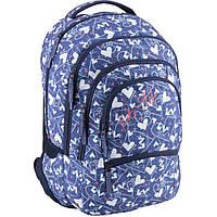Рюкзак Kite K18-881L-3 голубой 28x14x44,5 см, 881 Style-3, ортопедическая спинка, полиэстер, 615 гр
