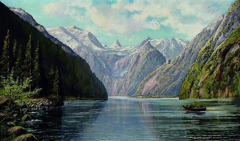 Картина Фьорды  Wieduwilt F. нач. XX-го века