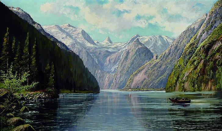Картина Фьорды  Wieduwilt F. нач. XX-го века, фото 2