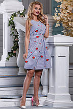 Женское летнее платье из хлопка в тонкую полоску (2632-969 svt), фото 2