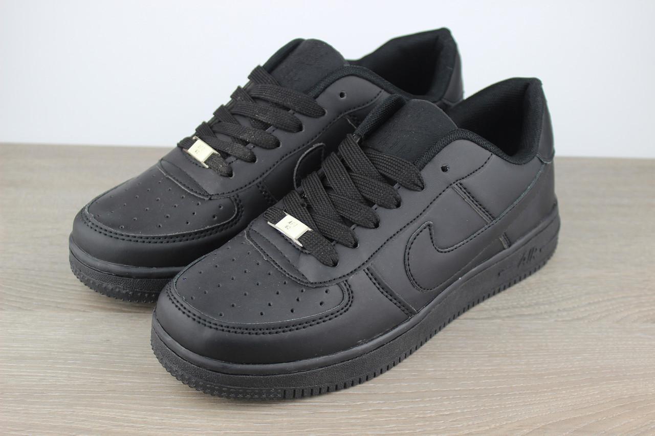 f66f88ac9c20e5 Классические кроссовки Nike Air Force 1 Black (реплика) - Foxi Sport - Магазин  для
