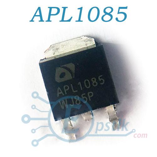 APL1085, регулируемый стабилизатор напряжения, 1.25 до 5.75V, 3А, TO252