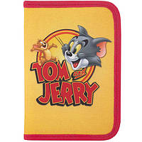 "Пенал CFS TJ02364 желто-красный 19,5х13х3,5см,""Tom and Jerry"", пластик; 1 отд. на молнии"