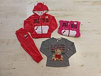 Велюровый спортивный костюм-тройка на девочку оптом, Crossfire, 6/9-36 рр, фото 1