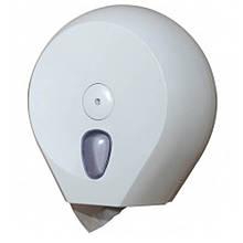 Держатель для туалетной бумаги Солярис 756w белый Раздатч кругл пласт 270х128х273