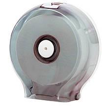 Держатель для туалетной бумаги Солярис 591 Раздатч кругл с син вставк пласт 256х130х270