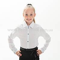 """Школьная блузка белая """"Сара"""", фото 1"""